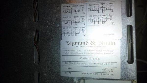 Стеклокерамика панель Zigmund & Shtain CNS 15.6 BS