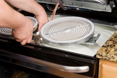 Ремонт стеклокерамических электроплит в Москве: вызов мастера на дом